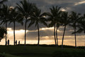 Sunset on Oahu, Hawaii Royalty Free Stock Photo