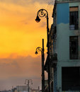 Sunset in Old Havana Royalty Free Stock Image