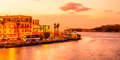 Sunset in Old Havana Royalty Free Stock Photo