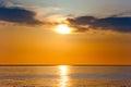 Sunset In Orange Tones Over A ...