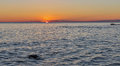 Sunset over Adriatic Sea in Croatia Royalty Free Stock Photo