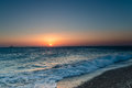 Sunset over the aegean sea Royalty Free Stock Photo