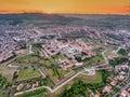 Sunset over Alba Iulia Medieval Fortress in Transylvania, Romania Royalty Free Stock Photo