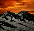Sunset over Alps Stock Photography