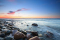 Sunset over the Baltic sea Royalty Free Stock Photo