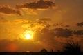 Sunset over caribbean beach paradise Royalty Free Stock Photo