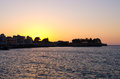 Sunset over the Chania town - Crete, Greece Royalty Free Stock Photo