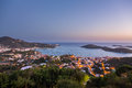 Sunset over Charlotte Amalie St Thomas Royalty Free Stock Photo
