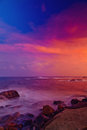Sunset over China Sea Royalty Free Stock Photo