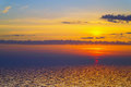 Sunset over cold ocean.2 Stock Photography