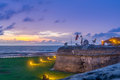 Sunset over Defensive Wall - Cartagena de Indias, Colombia
