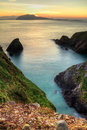 Sunset over Dingle Peninsula Stock Images