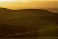 Sunset over the dunes, Morocco, Sahara Desert Royalty Free Stock Photo