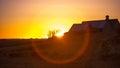 Západ slnka cez