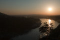 Sunset over the ganges in rishikesh india Royalty Free Stock Photo