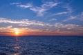 Sunset over Lake Michigan. Royalty Free Stock Photo