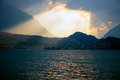 Sunset over the lake Thun, Switzerland Royalty Free Stock Photo