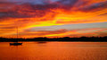 Sunset over Little Bayou on Tampa Bay, Saint Petersburg, Florida Royalty Free Stock Photo