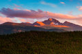 A Sunset Over Longs Royalty Free Stock Photo