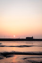 Sunset over Morecambe Bay, Lancashire, UK Royalty Free Stock Photo