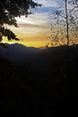 Sunset over the mountains beautiful in romania Royalty Free Stock Photography