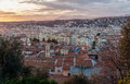 Sunset over nice french riviera Royalty Free Stock Image