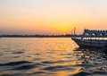 The sunset over Nile Royalty Free Stock Photo