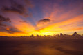 Sunset over the ocean with cloudscape atlantic Royalty Free Stock Images