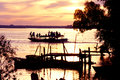 Sunset over Perak River Royalty Free Stock Photography