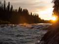 Sunset over the river Royalty Free Stock Photography