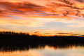 Sunset over river Danube Royalty Free Stock Photo