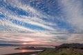 Sunset over San Francisco Bay. Royalty Free Stock Photo