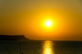 Sunset over sea cyprus ayia napa colorful Stock Photo