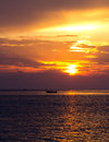Sunset over sea cyprus ayia napa dusk Royalty Free Stock Image
