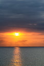 Sunset over sea at Montego Bay, Jamaica. Royalty Free Stock Photo