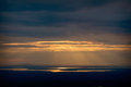 Sunset Overlooking Bar Harbor from Cadillac Mountain Royalty Free Stock Photo