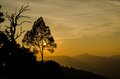 Sunset at panoenthung view point in kaeng krachan national park thailand Stock Photo