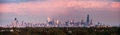 Sunset panorama of Chicago Royalty Free Stock Photo
