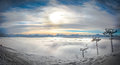 Sunset Panorama over the French Alps Royalty Free Stock Photo
