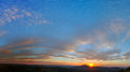 Sunset panorama at pretoria south africa Stock Photography