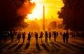 Stock Images Sunset in Paris
