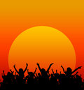 Sunset party Royalty Free Stock Photo