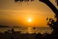 Sunset at patong beach phuket Stock Photo