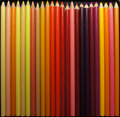 Sunset pencil crayons warm coloured Stock Images