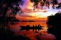 Sunset at Perak River Stock Image