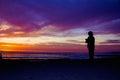 Sunset phogographer Royalty Free Stock Photo
