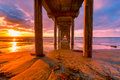 Sunset Pier #7 Royalty Free Stock Photo
