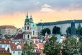Sunset in Prague, Czech Republic Royalty Free Stock Photo