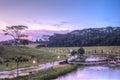 Sunset at Punggol Waterway, Singapore Royalty Free Stock Photo