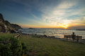 Sunset at Punta Ala, Tuscany Royalty Free Stock Photo